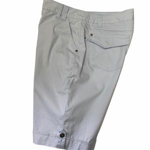 Gloria Vanderbilt Light Blue Cuffed Shorts Sz 12